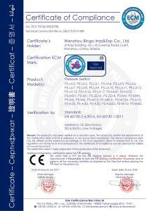 CE slėgio jungikliui